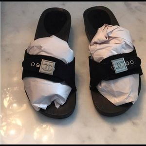 Chanel clog slides